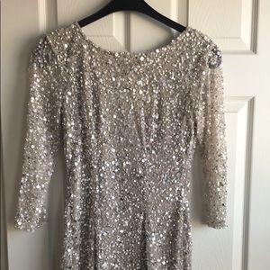 ROMAN sparkly silver dress